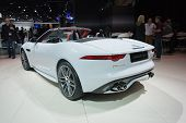 Jaguar F-type Convertible Car On Display