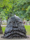 head of Russian epos's hero in Donetsk