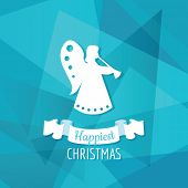 Paper Angel - Christmas Background - in vector