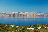 Adriatic Sea and Krk Island, Croatia