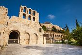 Square and Odeon of Herodes Atticus in Athens