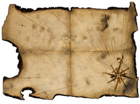 foto of treasure map  - Old blank of pirates map for design - JPG