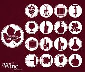 pic of wine cellar  - Wine icons set - JPG