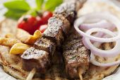 picture of souvlaki  - Souvlaki or kebab - JPG