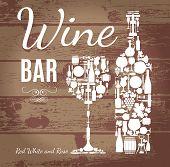 image of sparkling wine  - Wine menu on wood texture - JPG