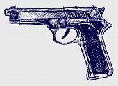 foto of handguns  - Handgun close - JPG