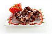 image of baby back ribs  - Hot Meat Dishes  - JPG