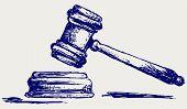 picture of sketch  - Judge gavel sketch - JPG