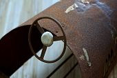 picture of flea  - Old and rusty toy car in a flea market - JPG