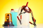 foto of rectifier  - group of car accessories including windshield washer fluids - JPG