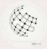 image of globe  - Abstract image of a globe lines - JPG
