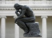 foto of thinker  - Side profile of the masterpiece the Thinker by Rodin  - JPG