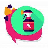 image of flea  - Pet Flea Spray Flat Icon With Long Shadow - JPG