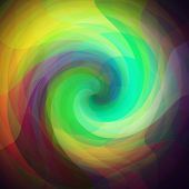 picture of parallelepiped  - retro background made from a triangles twirls - JPG