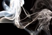 foto of backround  - Candle smoke in studio light on black backround - JPG