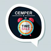 foto of year end sale  - Shopping Limit Sale Flat Icon With Long Shadow - JPG