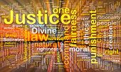 picture of socrates  - Background concept wordcloud of justice law glowing light - JPG