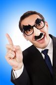pic of eyebrows  - Funny businessman with eyebrows and moustache - JPG