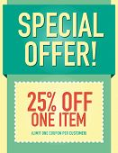 foto of coupon  - Special offer 25 - JPG
