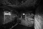picture of slit  - View in a small confined room in an old WWII bunker near Lostau Saxony - JPG