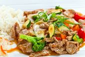 stock photo of korean  - Stewed meat with vegetables and bean sprouts - JPG