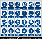 pic of safety  - Set of safety and health protection signs - JPG