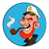 stock photo of caricatures  - Sea wolf - JPG