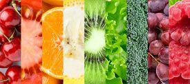foto of fruit  - Healthy food background - JPG