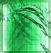 Grunge Leaves Mosaic Tiles