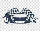 Sports Cars  Silhouette poster