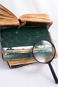 Old Books And Magnifier