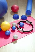 balls pilates toning stability ring roller yoga mat sport gym stuff