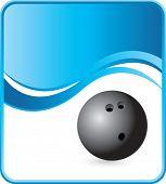 classy bowling ball background