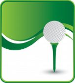 classy golf ball and tee background