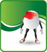 classy cartoon ping pong ball hat background