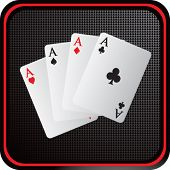 playing card aces on web icon