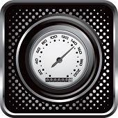 speedometer on black halftone web button