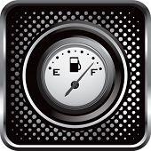 Gas-Guage auf schwarz Halbton Web button