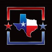foto of texas flag  - lonestar state on texas on star background - JPG