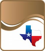lonestar state icon on brown wave background