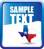 texas icon on grunge style background