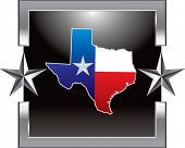 foto of texas flag  - texas icon on silver star background - JPG
