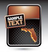 forma de estado de Florida no banner modelo marrom