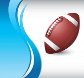football on vertical wave background
