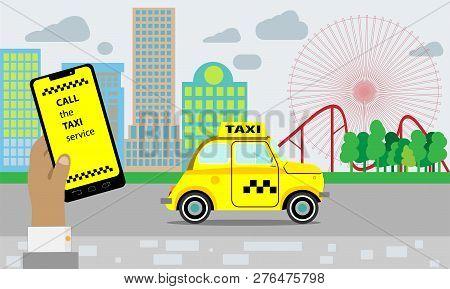 Taxi Service Yellow Taxi Cab