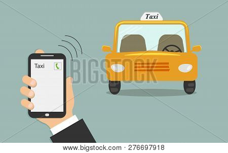 Concept Of Taxi Services Mobile