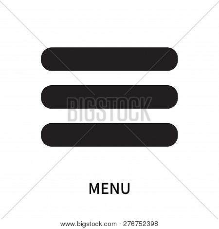 Menu Icon Isolated On White