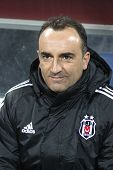 Besiktas Football Team's Manager Carlos Carvalhal