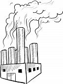 Factory pollution sketch