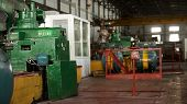 Construction Of Building Interior Of Factory. Modern Industrial Building. Equipment And Piping As Fo poster